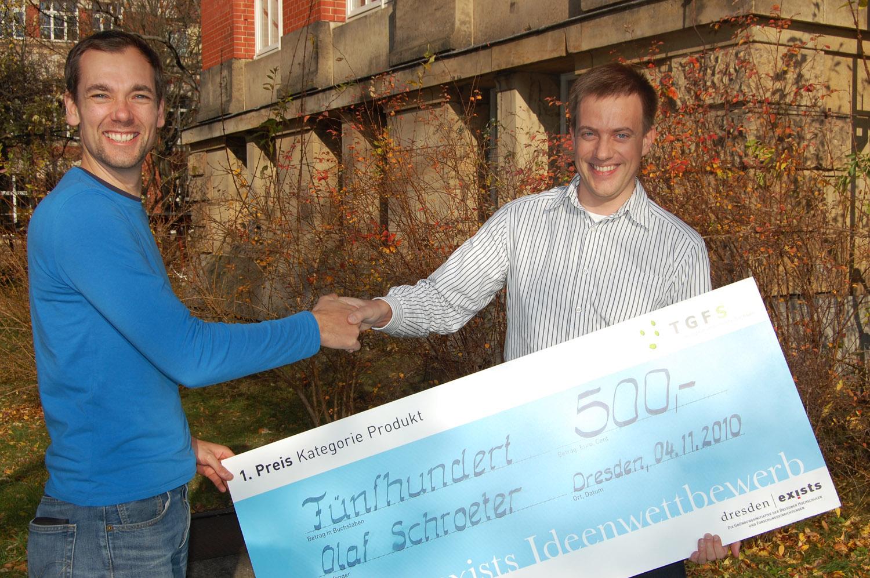 Gewinner Ideenwettbewerb 2010: Olaf Schroeter, Kategorie Produkt