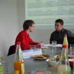 Matthias Lange im Feedback-Gespräch mit Jörg Knorr