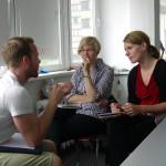 Das Team Spiegelneuronen im Feedbackgespräch