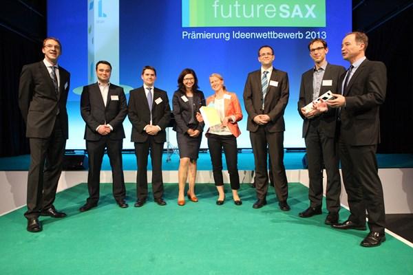 Preisverleihung futureSAX Team dresden|exists