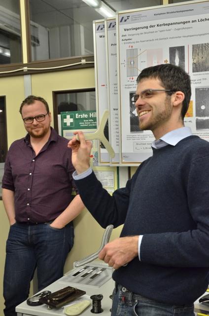 Axel Spickenheuer (li.) und Lars Bittrich (re.) berichten über ihre Gründungserfahrungen.