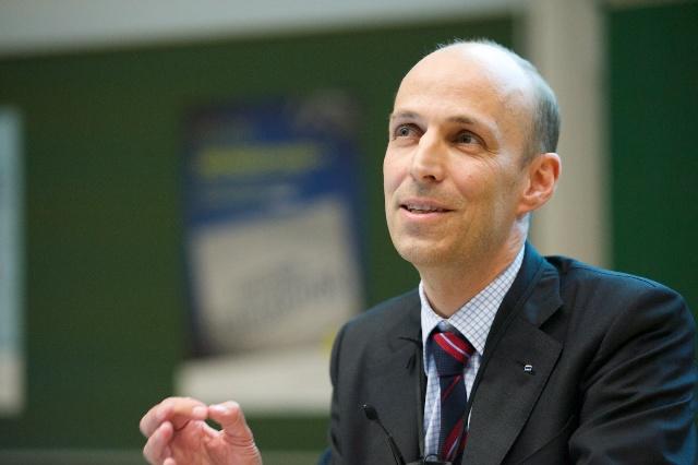 Dr. E.h. Peter Leibinger zum 42. Gründerfoyer (Foto: Robert Gebler)