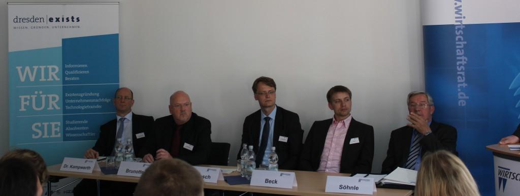 Dr. Gregor Kampwerth, Uwe Brunotte, Dr. Karsten Jähnsch, Curt Beck, Bruno Söhnle (von links) - Foto: dresden|exists