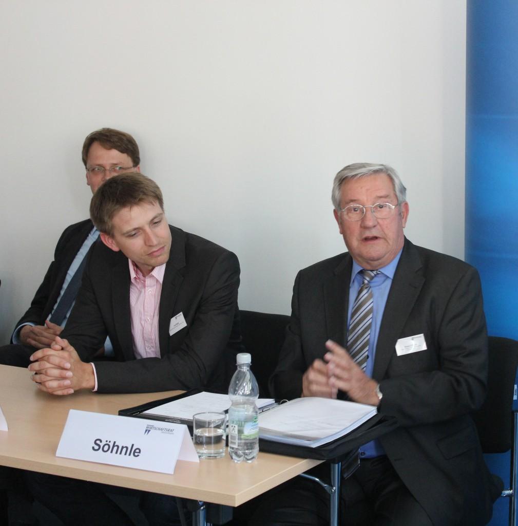 Dr. Karsten Jähnsch, Curt Beck, Bruno Söhnle (von links) - Foto: dresden|exists