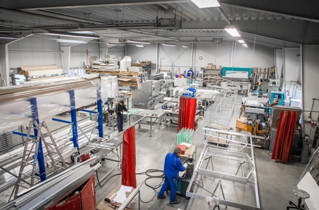 Werkshalle der MH Profil GmbH Foto: Gäbler