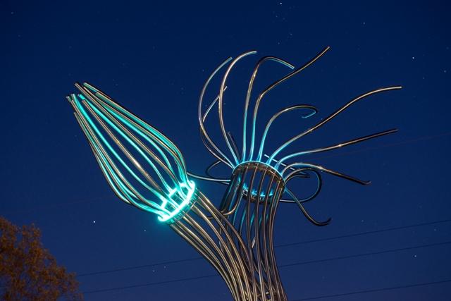 """Ein schönes Referenzprojekt: Die Skulptur """"SPROSS"""" der Künstlering Howey. (Foto: )"""