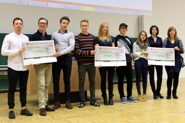 Mit kreativen und durchdachten Ideen überzeugten die drei Gewinnerteams die Jury. (Foto: TU Dresden, LEI)