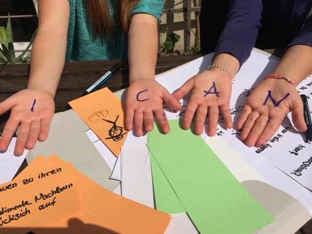 """Nach dem MOtto """"I CAN"""" will das Projekt Jugendliche motivieren zu handeln. (Foto: Design for Change Germany)"""