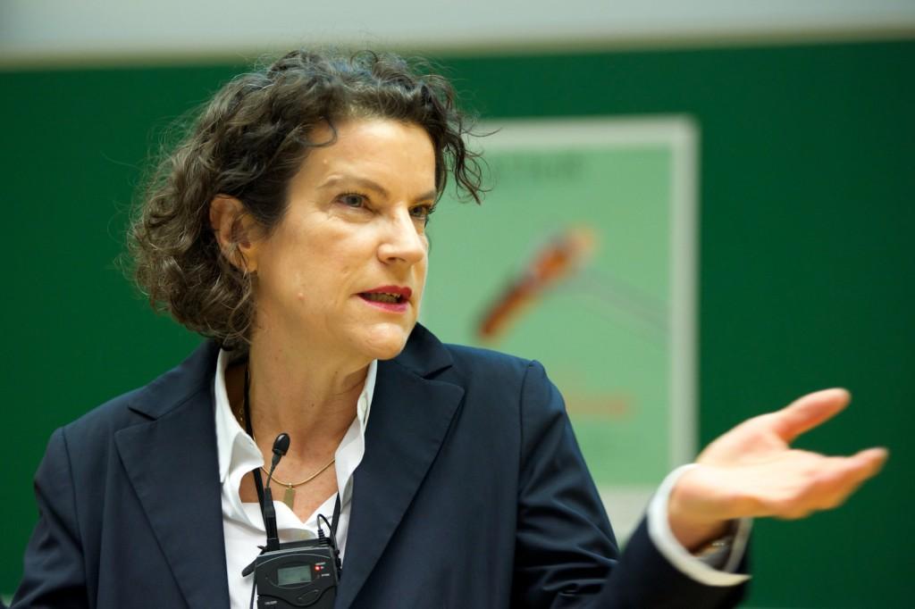 Gabriele Fischer auf dem 43. Gründerfoyer von dresden|exists. Foto: Robert Gebler