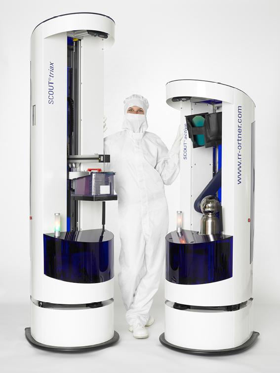 Mobiler Roboter im Reinraum: SCOUT® für Roth & Rau - Ortner Quelle: Roth & Rau - Ortner (Foto: Roth & Rau - Ortner)