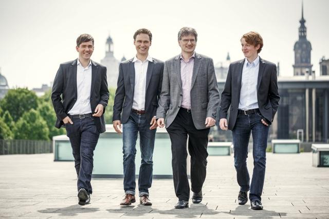 Das Gründerteam der COSEDA Technologies GmbH (v.l.): Thomas Arndt, Thomas Hartung, Karsten Einwich, Dominic Scharfe (Foto: Toni Kretschmer/newpic.eu