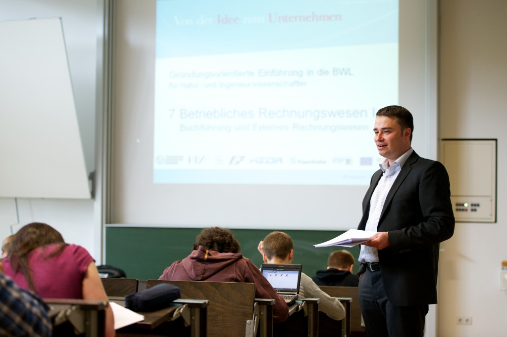 Vorlesung für Gründungsinteressiert (Foto: Robert Gebler)