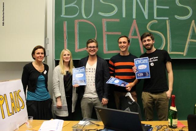 Preisverleihung: die drei besten Business-Ideen. (Foto: Katharina Neumann)