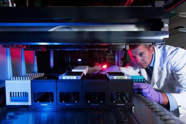 Automatisierte Probenvorbereitung für die Lipidanalyse ( Foto: Lipotype GmbH)