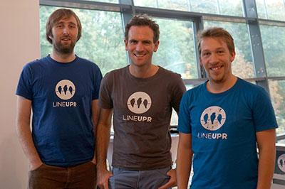 Dir Gründer von LineUpr: Norbert Sroke, Philipp Katz und Eric Mischke. (Foto: LineUpr