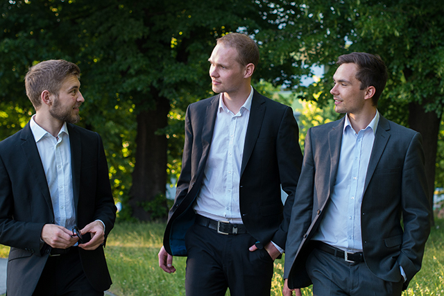 Die Gründer von plant values: Marcus Blank, Toni Kiel und Steve Grundig (Foto plant values)