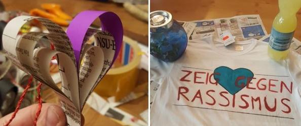 """Platz 2: """"Zeig Herz gegen Rassismus!"""""""