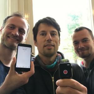 Das Gründer-Trio vom sportlichen Evomo-Team