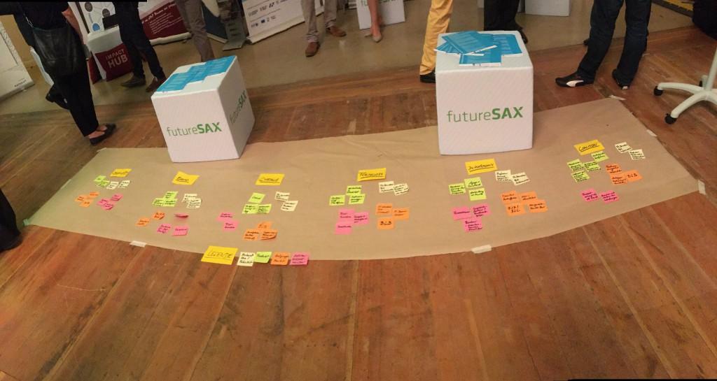 Agile Methoden, über die man schon mal stolpern kann: DeltHochDrei auf der futureSAX-Innovationskonferenz