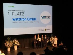 Sieger der Ideenwettbewerbs: Die watttron GmbH