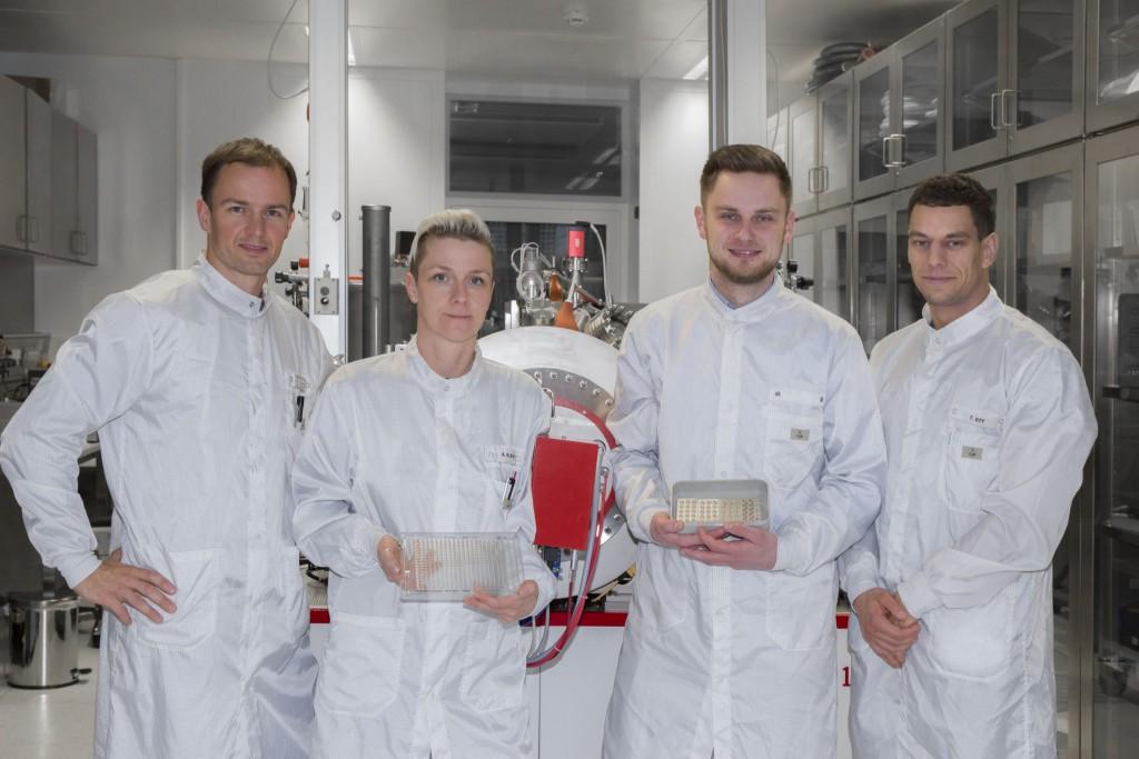 Das Team von infrasolid um Dr. Marco Schossig (links)