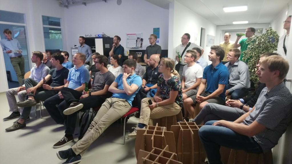 Gespannte Zuhörer beim Founders-Meetup.