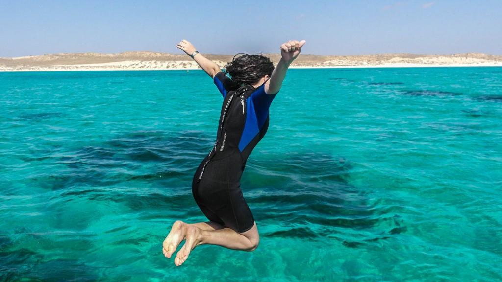 Sprung ins kalte Wasser (Foto: Nicole Baumgärtel - privat)