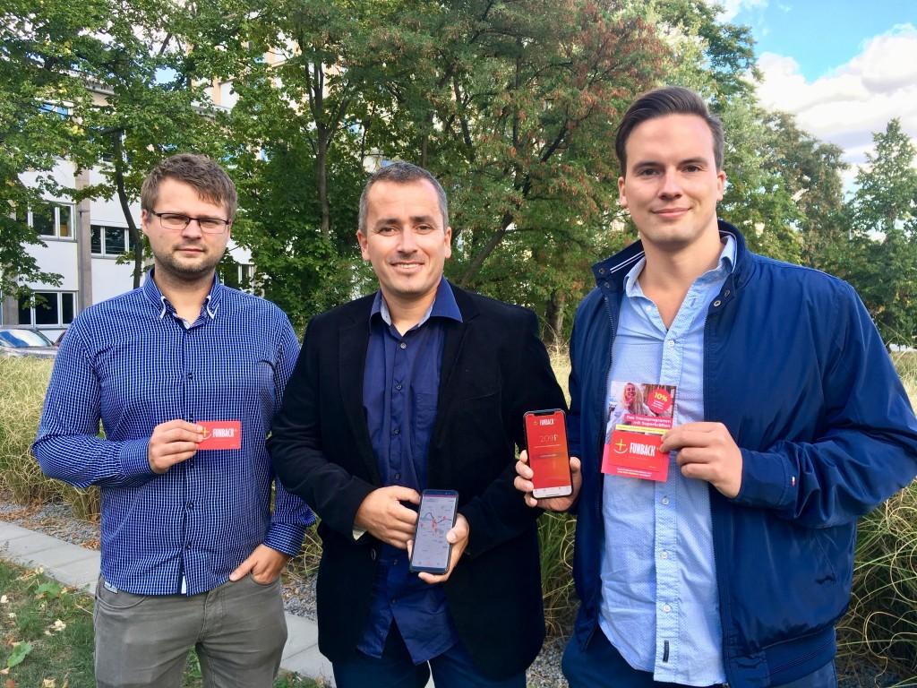 Die Köpfe hinter Plaxxt (v.l.n.r.): Barth Zalewski, Sascha Weber und Stefan Vogt
