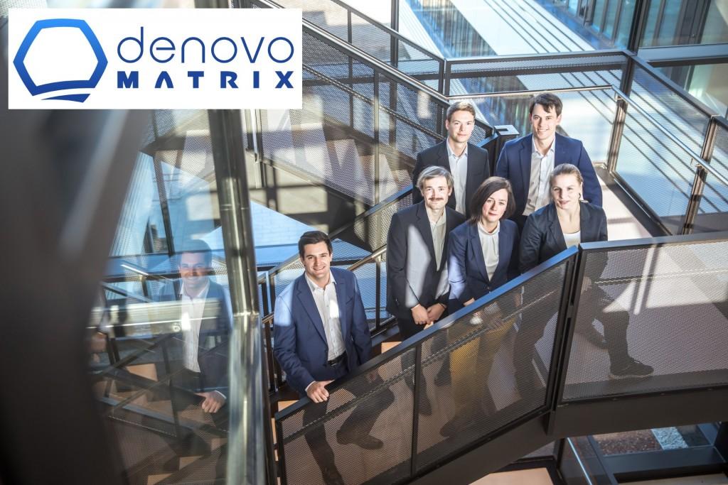denovoMATRIX Team (v.li): Dejan Husman, Dr. Steffen Lück, Dr. Kristina Thamm, Stefanie Hamann, Christian Woiwod, Dr. Richard Wetzel