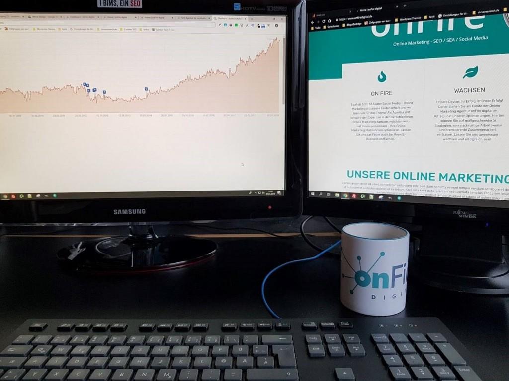 Analysieren, Monitoren und Optimieren - ein typischer Arbeitstag bei OnFire digital Quelle: OnFire digital