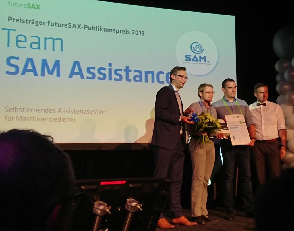 Publikumsliebling: Das Team von SAM gewinnt die Online-Abstimmung (Foto: Frank Pankotsch)