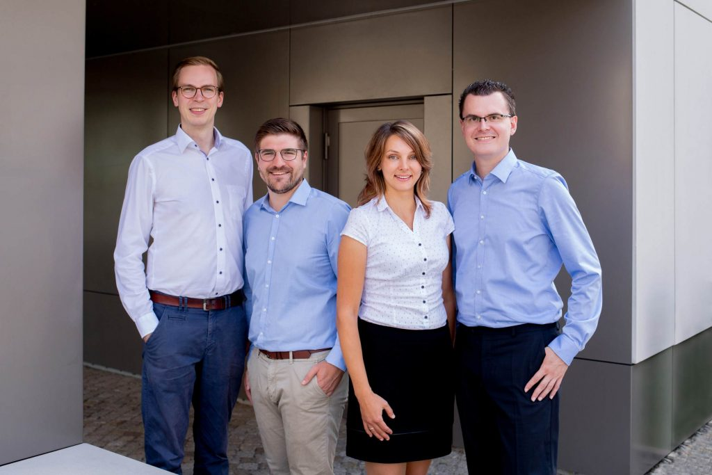die vier Gründer von Semodia