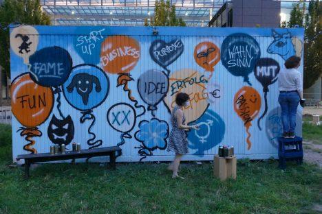 Graffiti Luftballons mit Botschaften