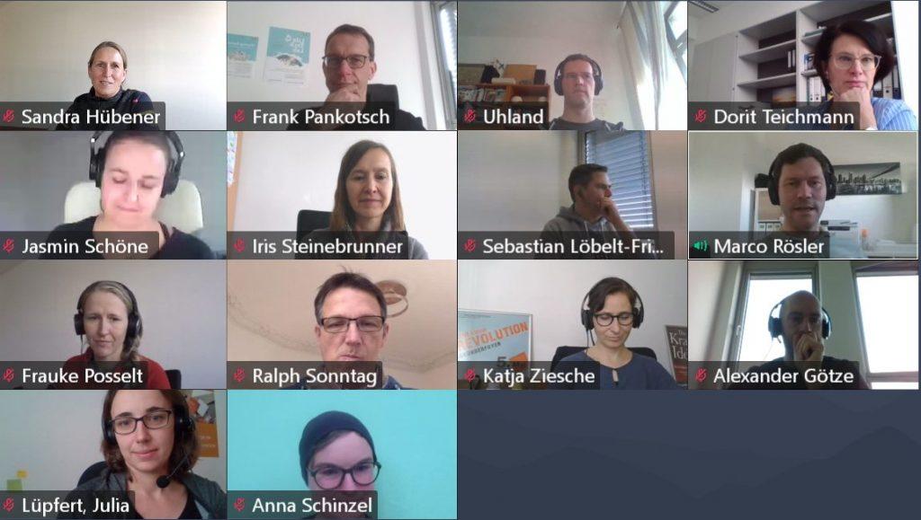 Screenshot Videokonferenz