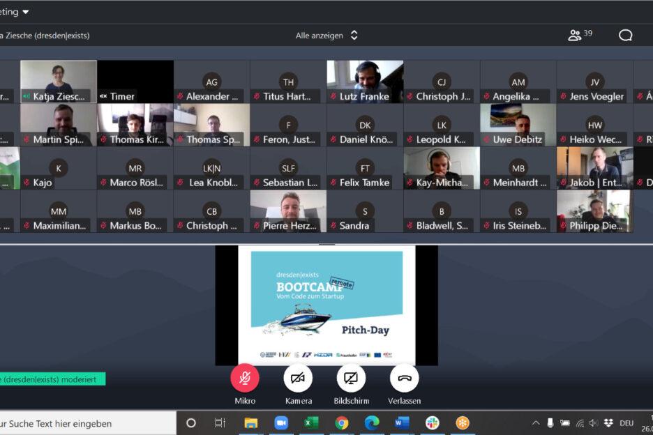 Screenshot der Videokonferenz
